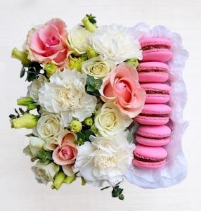 Цветы купить в перми дешево, букет из лилий хризантем роз